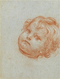 the head of a young boy [recto], the penitent saint peter [verso] by carlo maratta